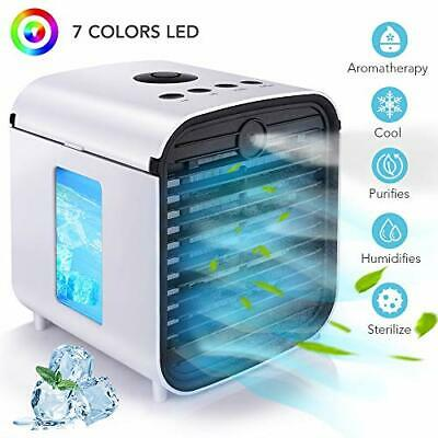 Hisome Portable Air Cooler, 4 in 1 Small Air Conditioner Cooler and Humidifier,