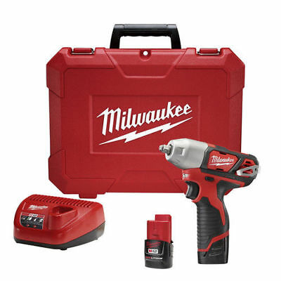Milwaukee 2463 22 M12 12V Cordless Lithium Ion 3 8 In  Impact Wrench Kit New
