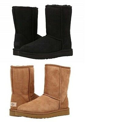 UGG Classic Short II Boots Chestnut/Black *100% Authentic* women winter boots Authentic Ugg Boots