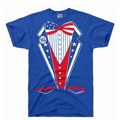USA United States TUX captain merica costume tuxedo flag bow tie America T Shirt