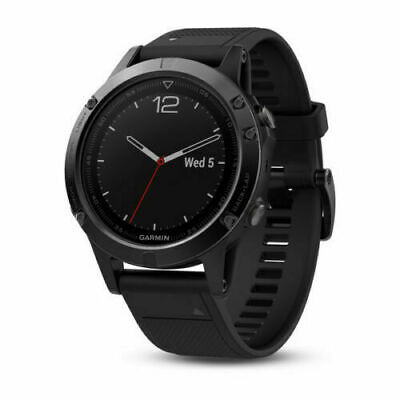 Garmin 010-01688-10 Fenix 5 Black Sapphire Multi-Sports GPS 47mm Case Watch