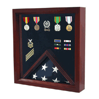 Flag Medal Display Case, Wood Military Flag Medal Shadow Boxes Hand Made By Vete Medal Shadow Boxes