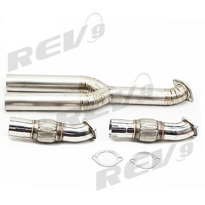 Rev9 3 Stainless Flex Pipe With Titanium Y pipe For GTR 2009 2017 R35 All Trim