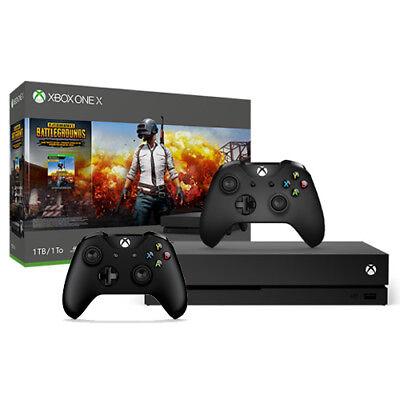 Купить Microsoft CYV-00026+6CL-00005 - Xbox One X 1TB PUBG Console Bundle + Extra Xbox Wireless Controller