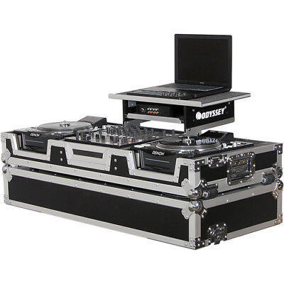 Odyssey FZGS12CDJW Flight Zone Glide Style Laptop DJ CD Mixer Coffin with (Flight Zone Cd)