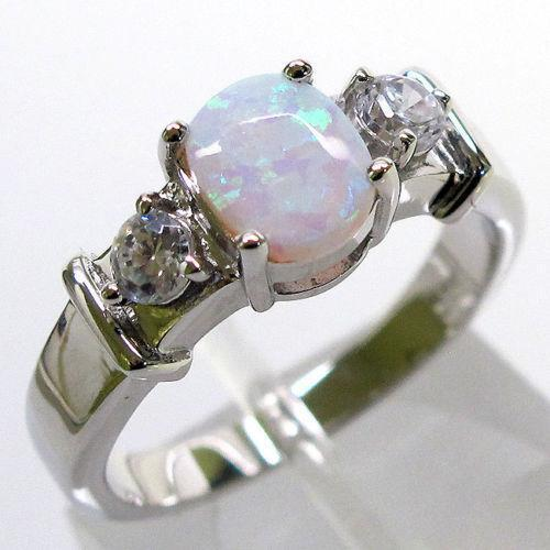 Fire Opal Ring Ebay