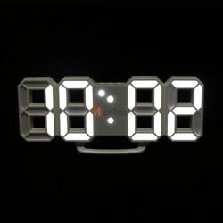 Large Display Digital Led Skeleton Desk Wall Clock Timer 24/12H 3D Snooze Alarm