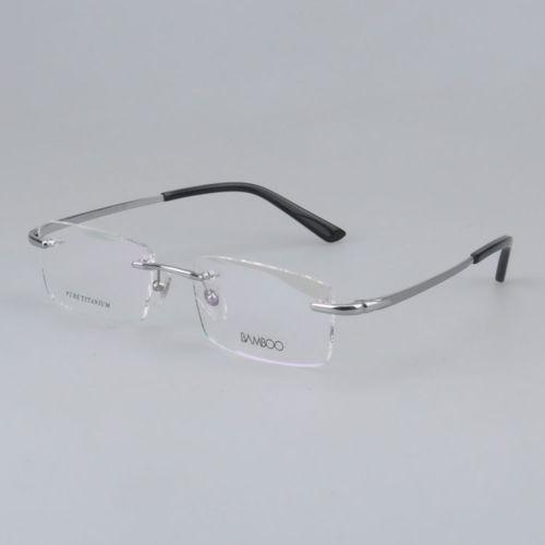 rimless eyeglass frames titanium ebay