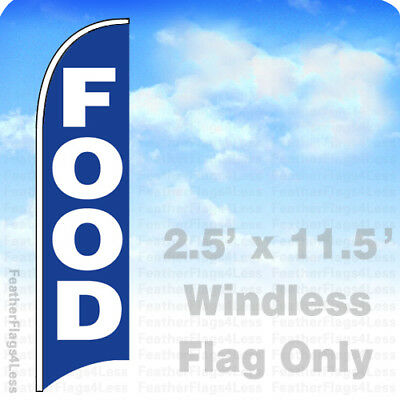 Food Windless Swooper Flag Feather Banner Sign 2.5x11.5 Bb