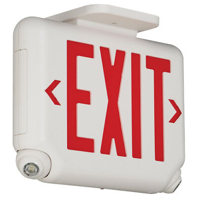 Dual Lite Evcurw Dual Lite Evc Series Led Exit - Emergency Sign With Red Letters