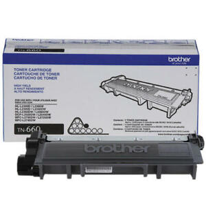 BROTHER Genuine OEM Toner Cartridge TN660 TN-660 Free Shipping