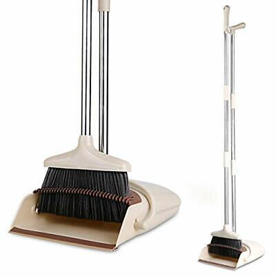 """Broom and Dustpan/Dustpan with Broom Combo with 52"""" Long Handle Broom Dustpan..."""