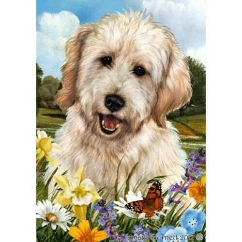 Summer House Flag - White Goldendoodle  18271