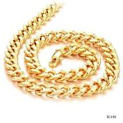 Big Gold Link Chain Necklace