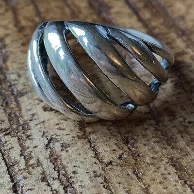 Designer Vintage Cabana Sterling Silver Ring Size 8 - $7.99