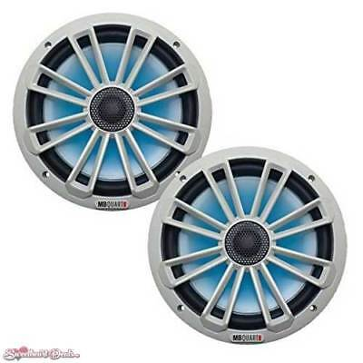 "Pair of MB Quart MB Quart NK1-120L 8"" 2-way Illuminated Coaxial Nautic Speakers"