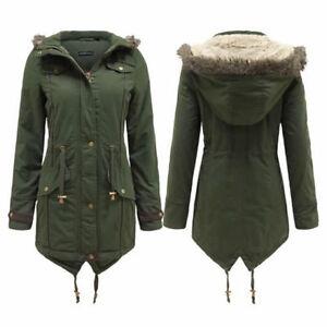 Womens Khaki Parka Jacket