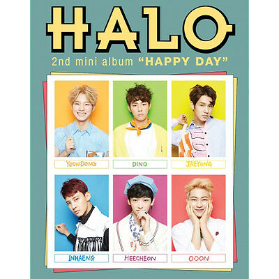 HALO - [HAPPY DAY] 2nd Mini Album CD+Photo Book+Photo Card K-POP Sealed ()