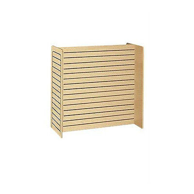 Slatwall Gondola Unit In Maple Finish 24 X 48 X 48 Inches Without Casters