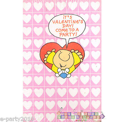 Valentine Party Invitations (ZIGGY VALENTINE'S DAY INVITATIONS (8) ~ Vintage Party Supplies Stationery)
