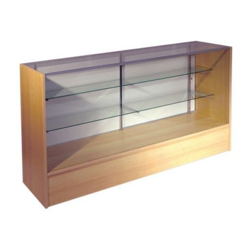 RETAIL GLASS DISPLAY CASE FULL VISION MAPLE 4