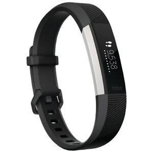 New Open Box Fitbit Alta HR Fitness Watch - Large Black Band