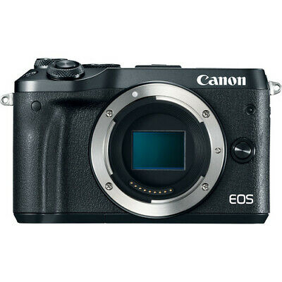 Canon EOS M6 Mirrorless Digital Camera (Body Only, Black) - 1724C001