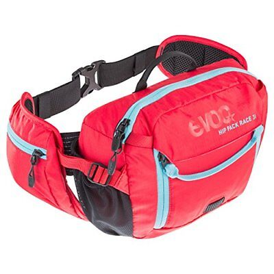 Evoc Hip Pack Race 3L with 1.5L Bladder Red/Neon Blue, One Size