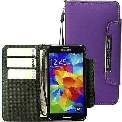 Handytasche für Samsung Galaxy S5 Case Etui Hülle Phone  S 5 violett Phone Cases Für Galaxy S5