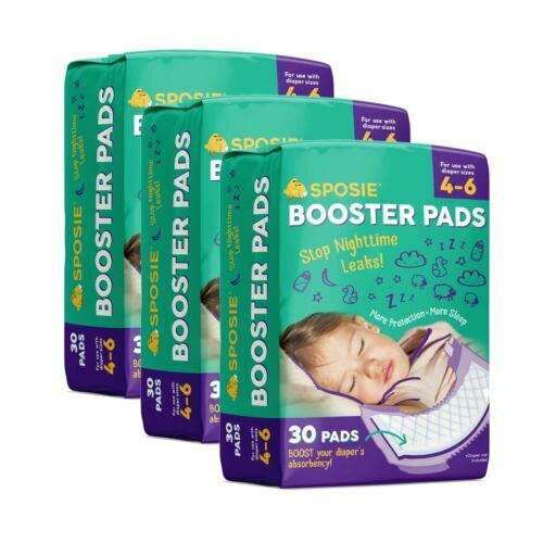 Sposie® Night Absorbent Booster Pads / Diaper Liners / 90 Inserts / Size 4-6