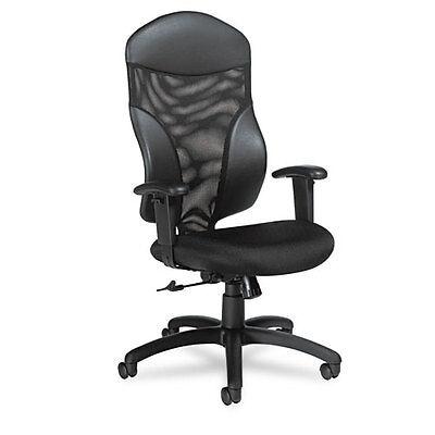 Global Tye Mesh Management Series High-Back Swivel/Tilt Chair  Black GLB19504 (Global Managers Chair)