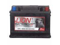 Type 075 Car Battery 520CCA Lion Batteries 12V 60Ah Sealed 3 Years Warranty