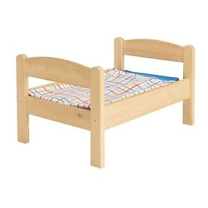 Ikea Duktig doll bed with bedding
