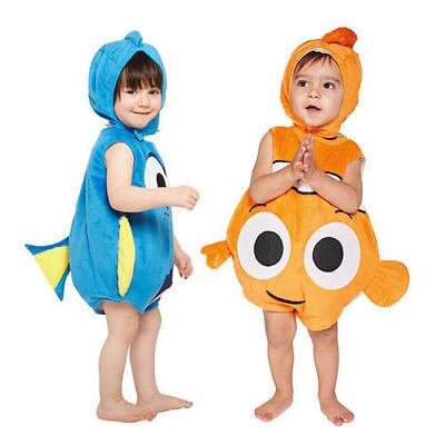 ★ Travis Disney Baby Finding Nemo oder Dory Fisch KinderKostüm Plüsch Kind 62-92