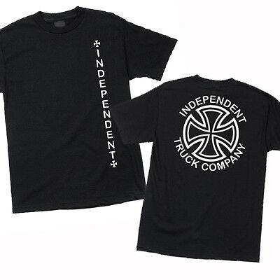 Independent Truck Company Vertical Cross Skateboard Tee T Shirt Black L Xl Xxl