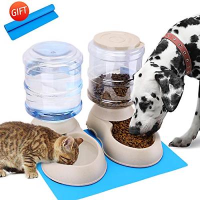 Automatic Cat Feeder Water Dispenser Set Pet Food Mat Small Medium Dog Pets P...