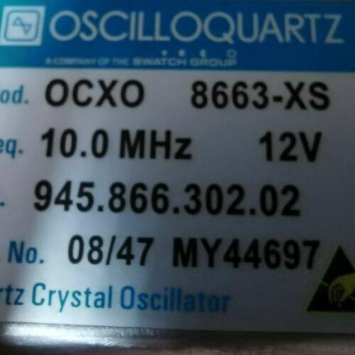 1PC OSCILLOQUARTZ 8663-XS 10MHz 12V Sinewave OCXO Crystal Oscillator #T1A YS