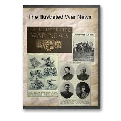 The Illustrated War News World War 1 WWI Magazine Collection on CD B545