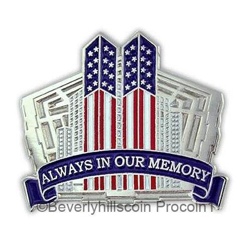911 New York World Trade Pentagon Lapel Pin