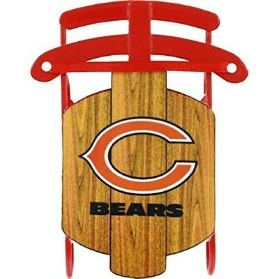 (CHICAGO BEARS METAL SLED ORNAMENT SPORTS COLLECTOR SERIES FREE SHIPPING NIB)
