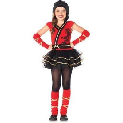 Ninja Princess Costume (Girls Ninja Cutie Princess Ballerina Halloween Dress-up  Size Large)
