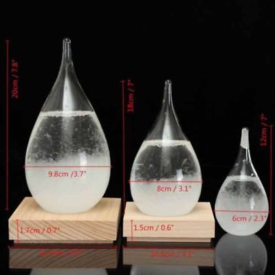 Weather Forecast Crystal Drop Water Shaped Storm Glass Snow Home Decor Gift
