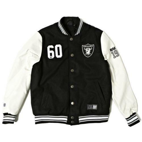 4cf8388345d Raiders Varsity Jacket   eBay