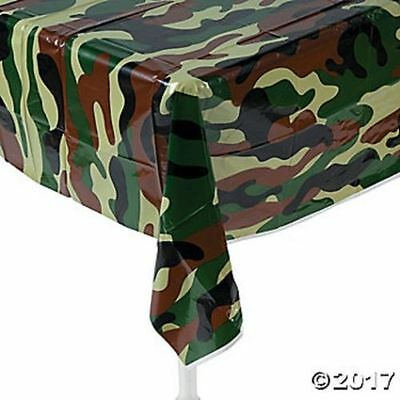 Camouflage Army Military Table Cover Tablecloth Kids Birthday Party Decoration