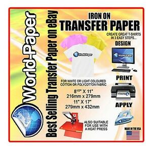Design Your Own T Shirt Iron On Transfer Paper Inkjet Heat