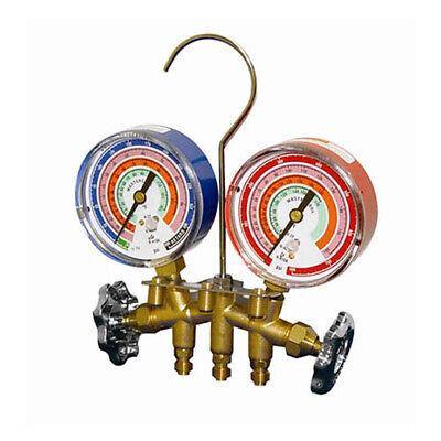 Mastercool 59103 R410a Brass 14 Mfl Manifold W3 18 Gauges Only