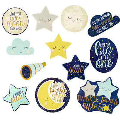 Twinkle Twinkle Little Star Party Decorations (BABY SHOWER Twinkle Twinkle Little Star CUTOUTS (12) ~ Birthday Party)