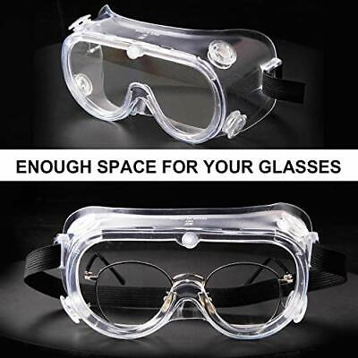 2pcs Safety Protective Goggles Over Glasses Lab Work Eyewear Clear Lens