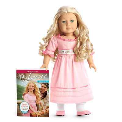 "NEW IN BOX BeForever Historical American Girl CAROLINE 18"" Doll of 1812 + Book"