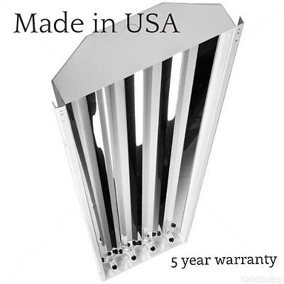 4 lamps T5 HO High Low Bay Light Fixture Shop Warehouse Lighting 4' - UL Listed